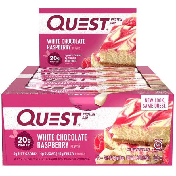 Quest Bars White Chocolate Raspberry