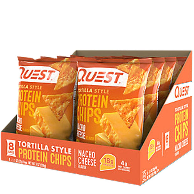 Quest Tortilla Style Protein Chips Nacho Cheese Flavor