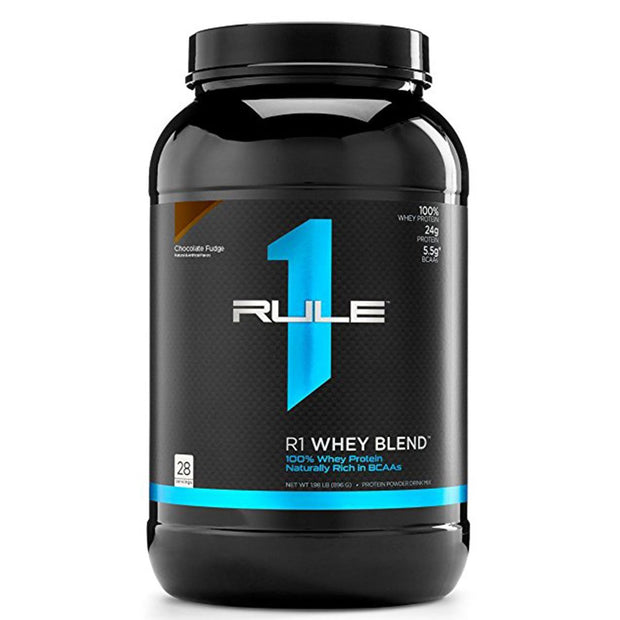 Rule1 R1 Whey Blend Protein Chocolate Fudge