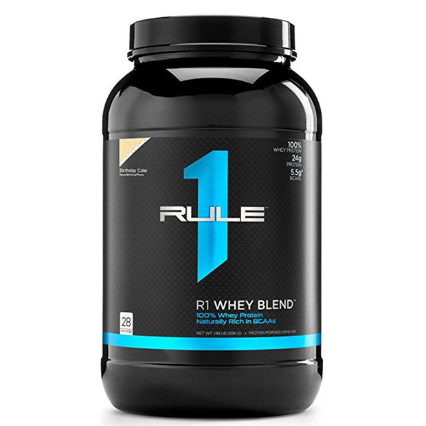 Rule1 R1 Whey Blend Protein Birthday Cake