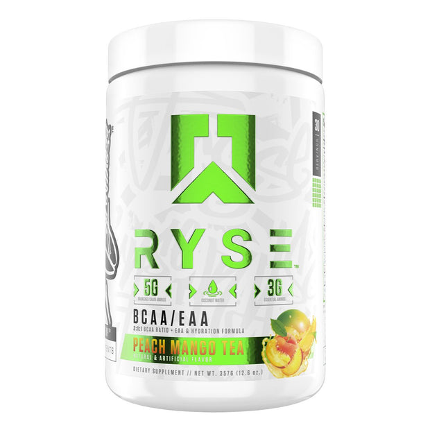 RYSE Supps BCAA EAA Supplement Peach Mango Tea