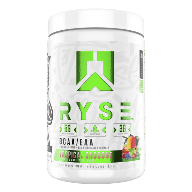 RYSE Supps BCAA EAA Supplement Tropical Snocone