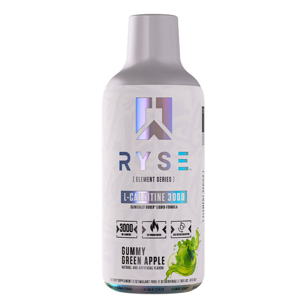 Ryse supps L Carnitine Weight Loss Supplement Gummy Green Apple