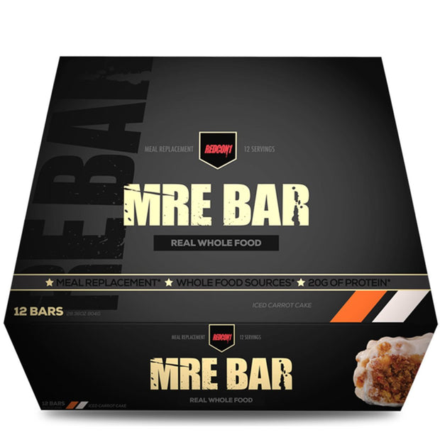 RedCon 1 MRE Meal Replacement Protein Bar Iced Carrot Cake