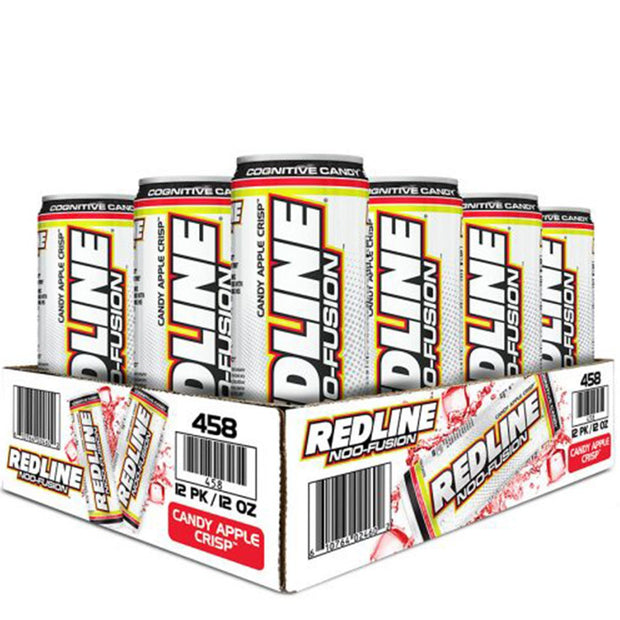 VPX BANG Redline NOO Fusion Energy Drink Candy Apple Crisp
