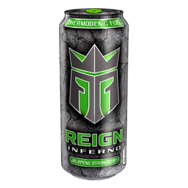 REIGN Inferno Energy Drink Weight Loss Jalepeno Strawberry