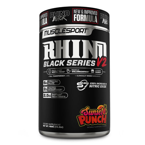 Musclesport Rhino Black Series Pre Workout Sunset Punch