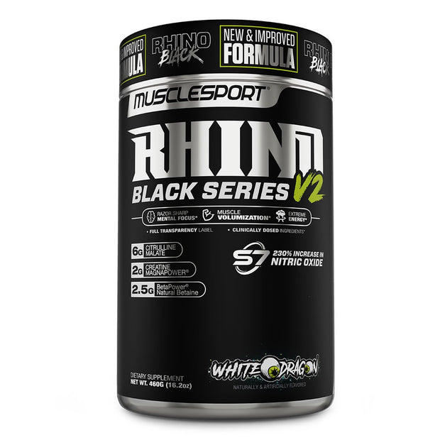 Musclesport Rhino Black Series Pre Workout White Monster Dragon