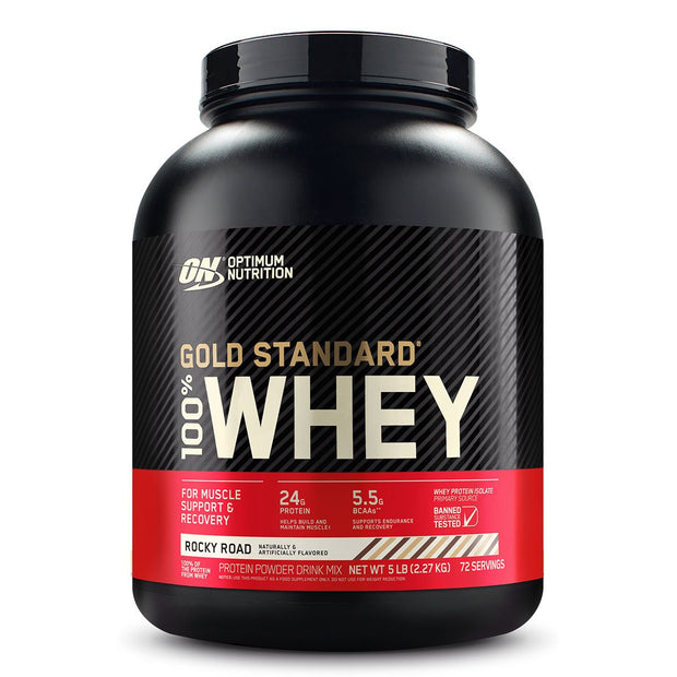 ON Optimum Nutrition Gold Standard 100% Whey Protein Powder Supplement Rocky Road