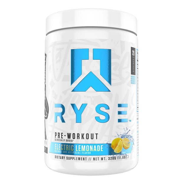 Ryse Supps Pre Workout Supplement Electric Lemonade