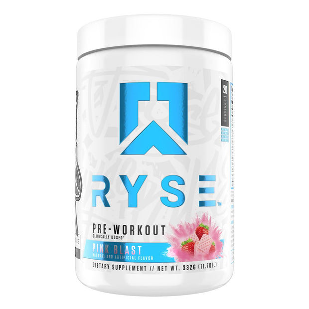 Ryse Supps Pre Workout Supplement Pink Blast