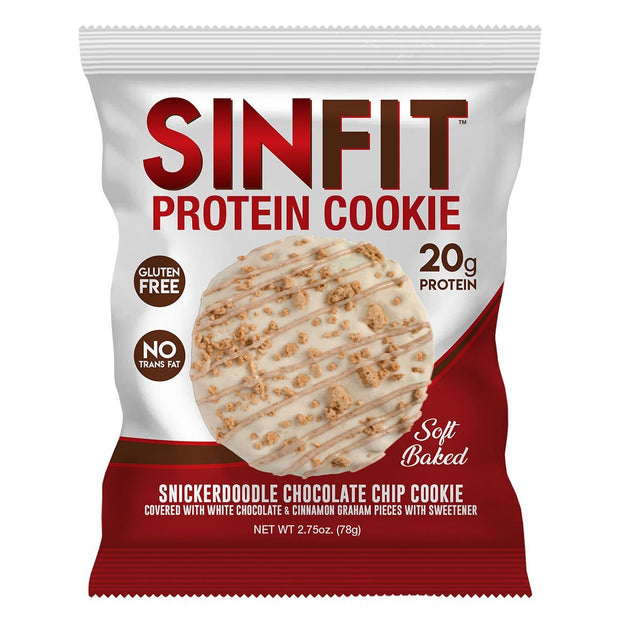 SinFit Protein Cookie Snickerdoodle Chocolate Chip