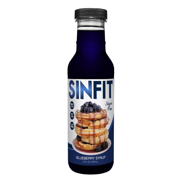 SINFIT Pancake Waffle Sugar Free Low Calorie Syrup Blueberry