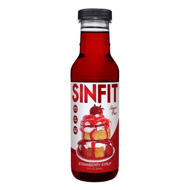 SINFIT Pancake Waffle Sugar Free Low Calorie Syrup Strawberry