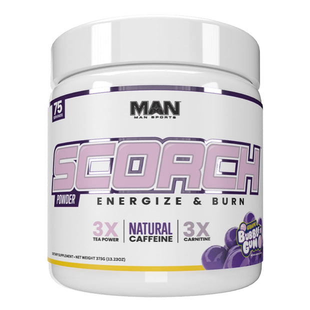 MAN Sports Scorch Fat Burning Powder Supplement Grape Bubblegum