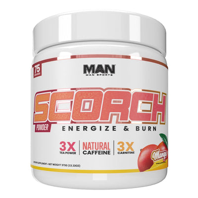 MAN Sports Scorch Fat Burning Powder Supplement Mango