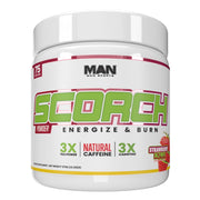 MAN Sports Scorch Fat Burning Powder Supplement Strawberry Kiwi