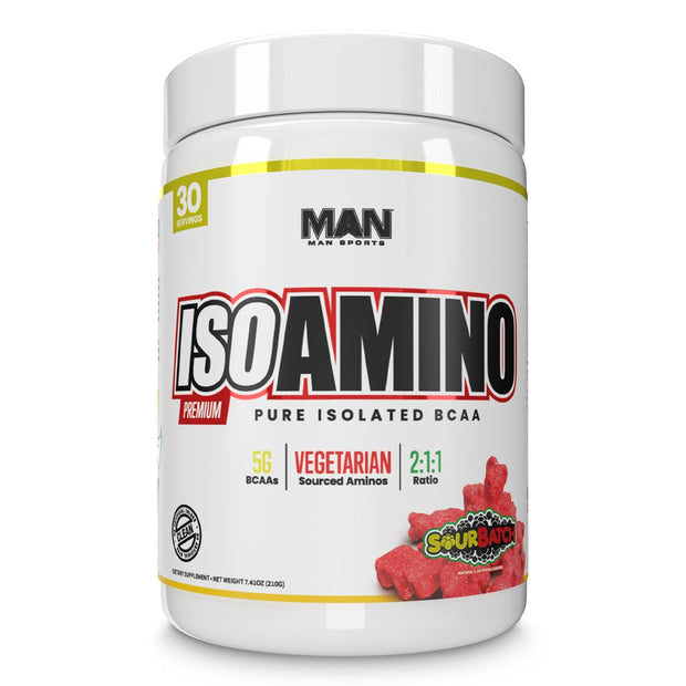 MAN Sports ISO Amino BCAA Supplement Sour Batch