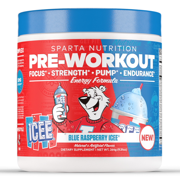 Sparta Nutrition Pre Workout Blue Raspberry ICEE