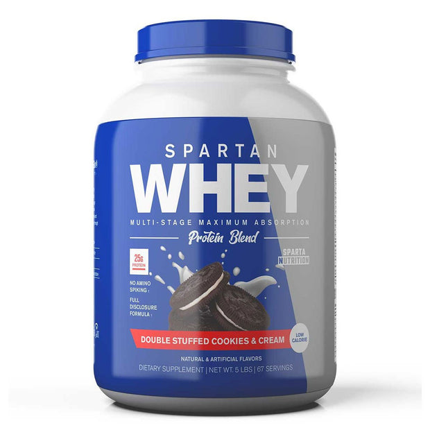 Sparta Nutrition Spartan Whey Protein Double Stuffed Cookies and Cream