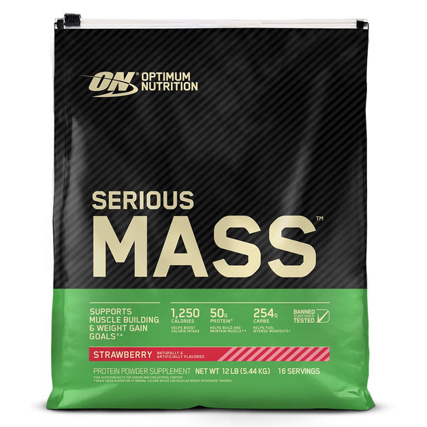 ON Optimum Nutrition Serious Mass Weight Gainer Protein Strawberry
