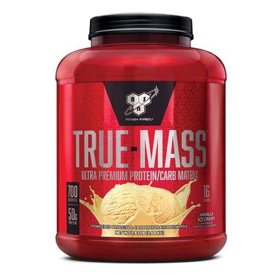 BSN True Mass Weight Gainer Protein Supplement Vanilla Ice Cream