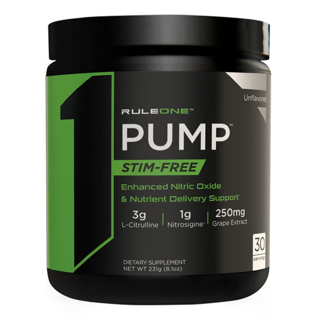 Rule One R1 PUMP Stim Free Pre Workout Unflavored