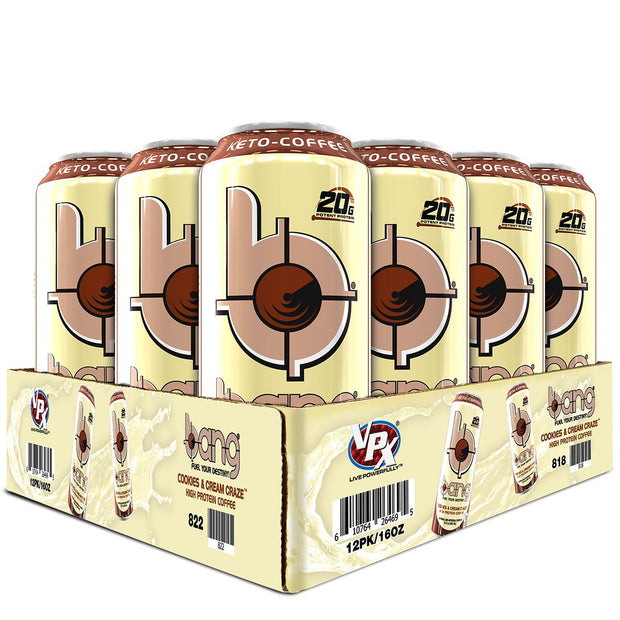 VPx Sports BANG Energy Keto Coffee Cookies and Cream Craze