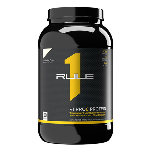 Rule One R1 Pro6 Protein Powder Supplement Vanilla Ice Cream