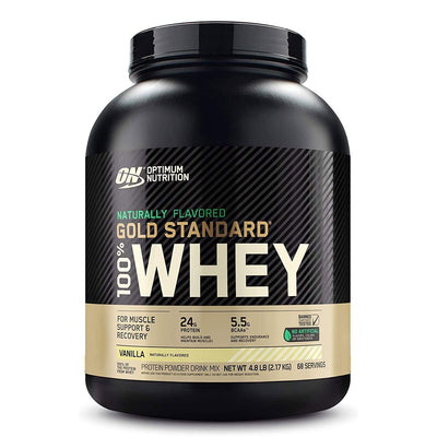 Optimum Nutrition ON Naturally Flavored Gold Standard 100% Whey Protein Powder Vanilla