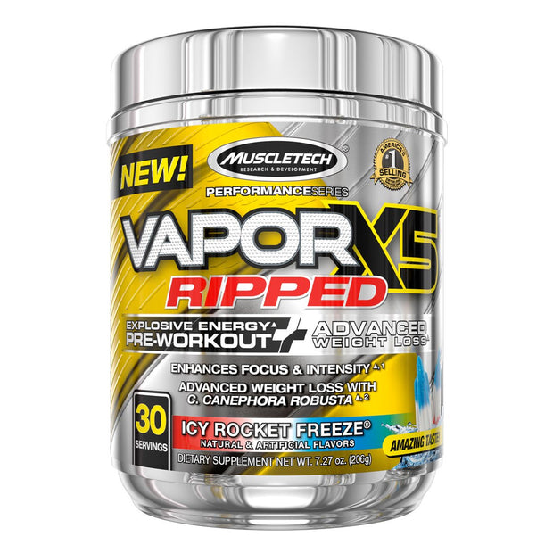 Muscletech Vapor X5 Ripped Pre Workout Icy Rocket Freeze