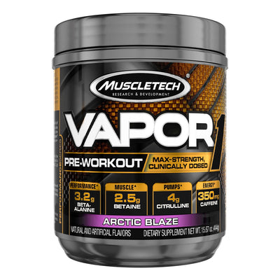 Muscletech Vapor1 Pre Workout Supplement Arctic Blaze