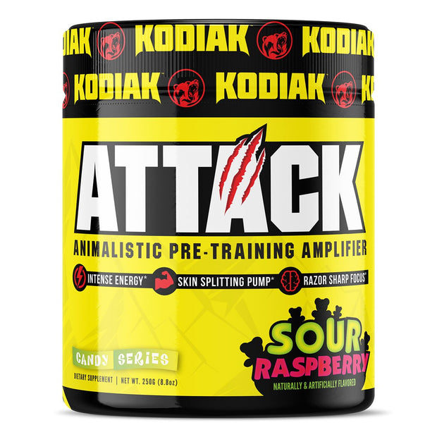 Kodiak Supplements Attack Pre Workout Sour Raspberry