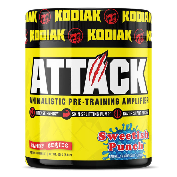 Kodiak Supplements Attack Pre Workout Sweetish Punch