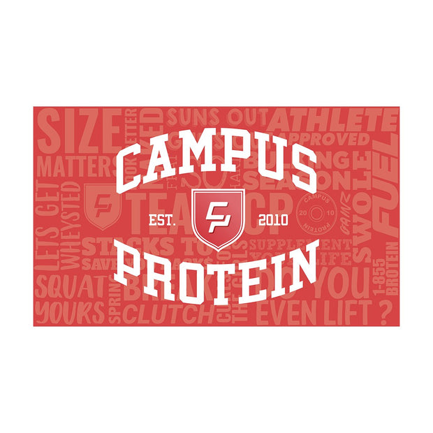 campus protein university college flag