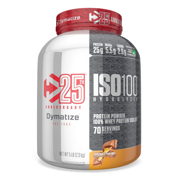 Dymatize Nutrition ISO100 Whey Protein Isolate Caramel Chocolate 25th Anniversary