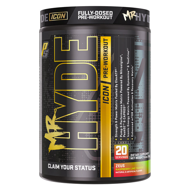 Pro Supps Mr Hyde Icon Pre Workout ZUES Rasperry Lime Thunder