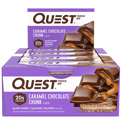 Quest Nutrition Protein Bar Caramel Chocolate Chunk