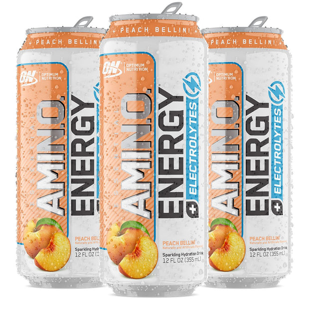 Optimum Nutrition Amino Energy Sparkling Carbonated Peach Bellini