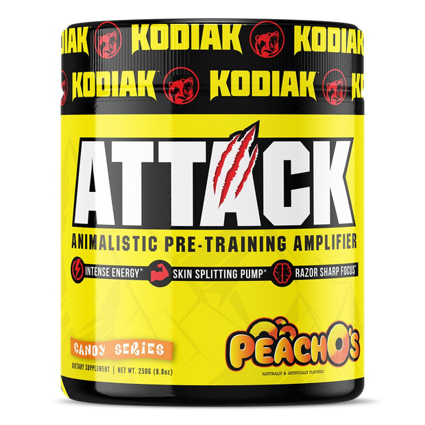 Kodiak Supplements Attack Pre Workout Peach Os