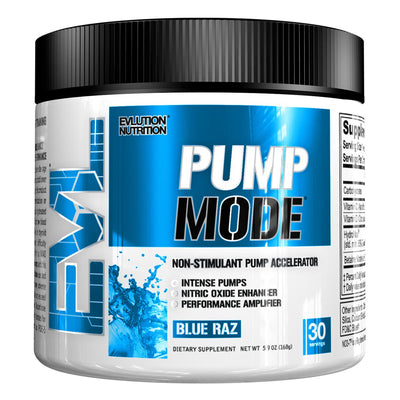 EVL Nutrition Pump Mode Powder Blue Raz