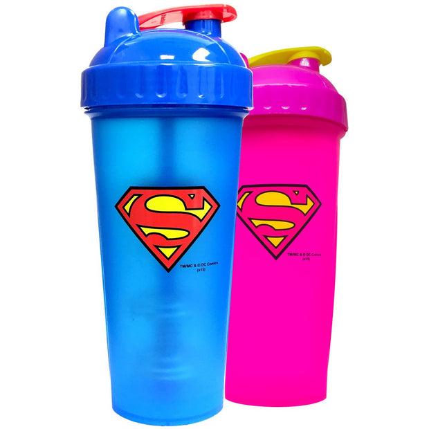 Superman and Supergirl Shaker Bottles