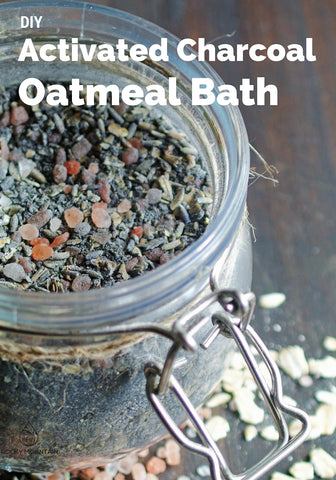 DIY Activated Charcoal Oatmeal Bath
