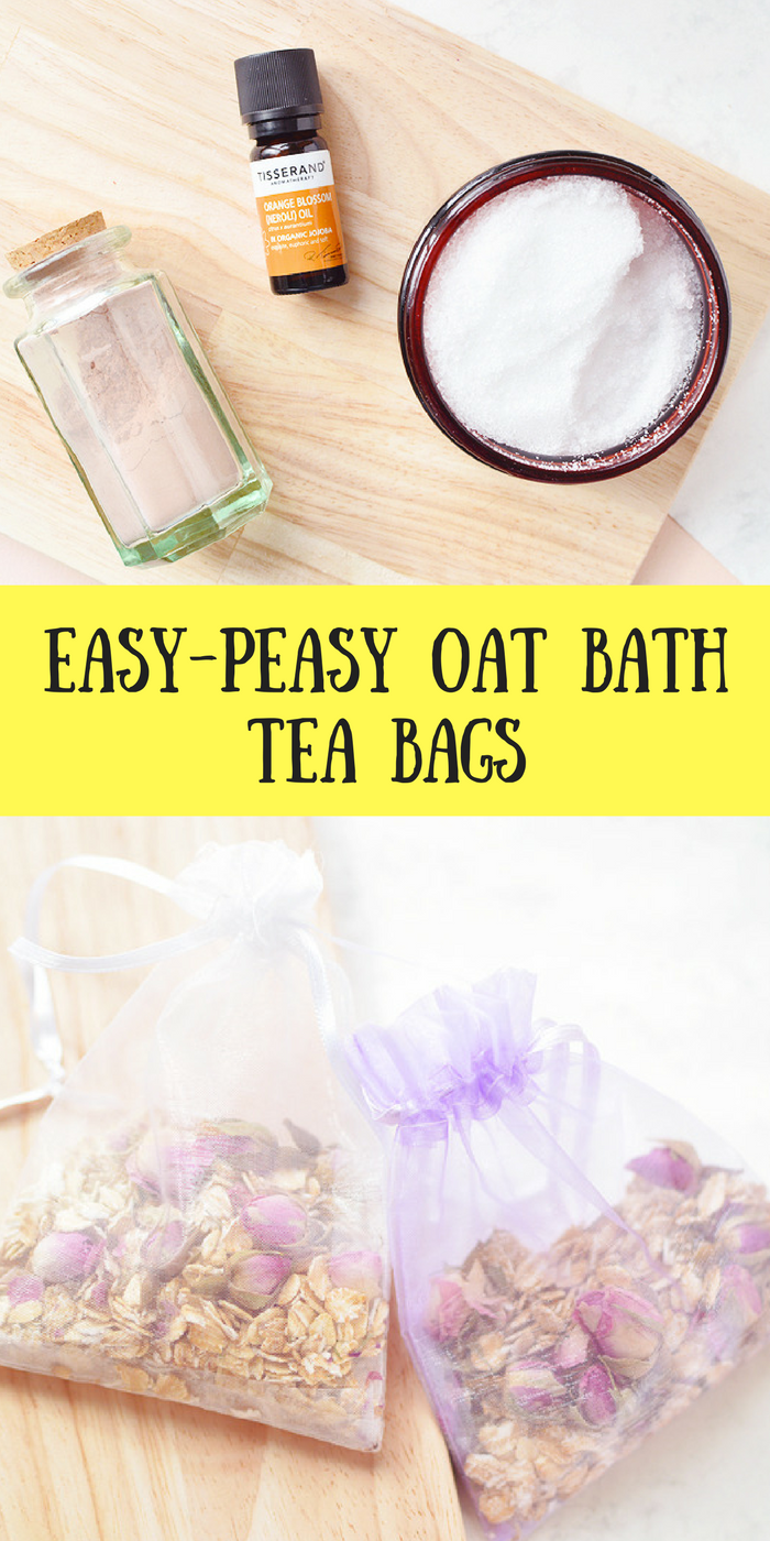 Easy-Peasy Oat Bath Tea Bags