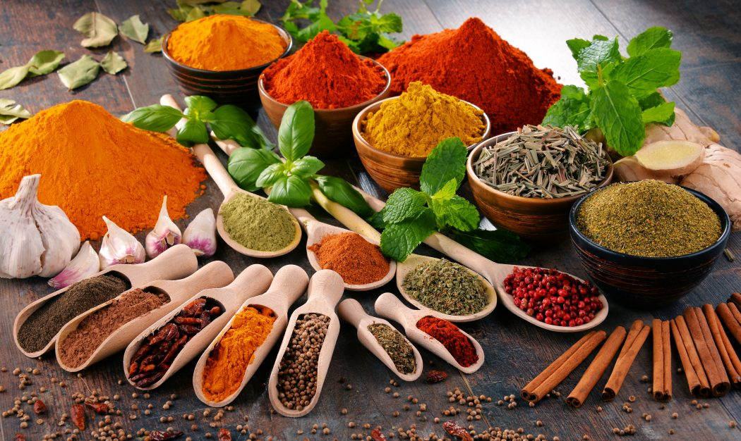 spices and healthy fats