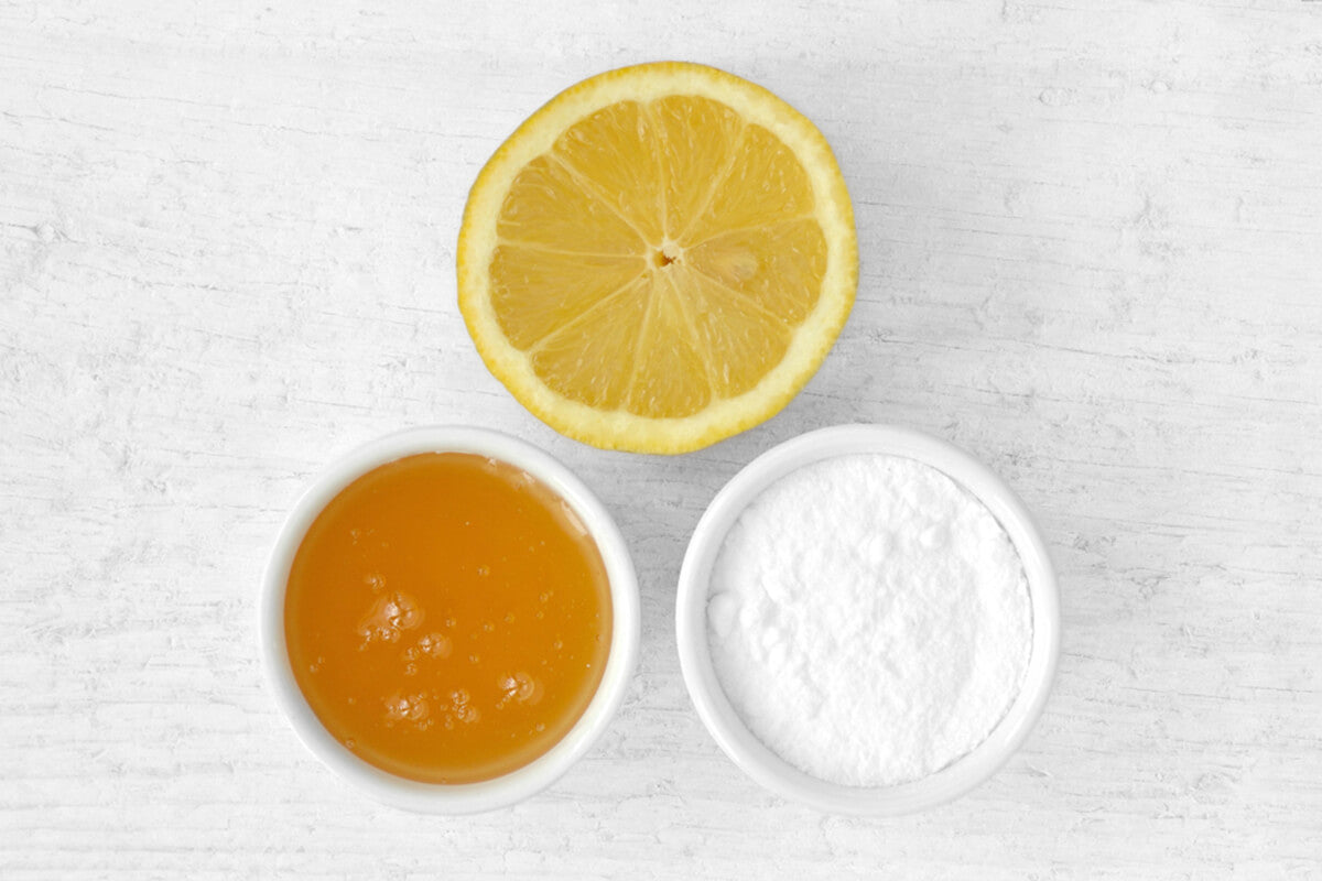 Baking Soda + Lemon Juice + Honey