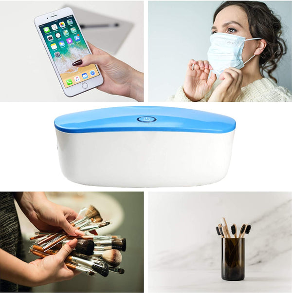 Portable UV Light Sanitizer Box - Large Sterilizer Box for Disinfecting Cell Phone and Personal Items