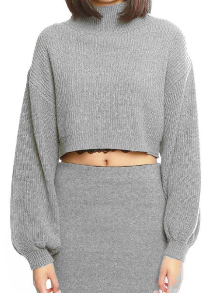 C - Mochi cropped turtle neck sweater