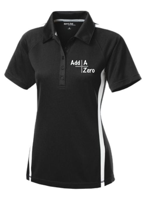Add A Zero Sport-Tek® Ladies PosiCharge™ Micro-Mesh Colorblock Polo