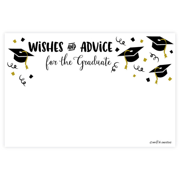 Wishes for the Graduate Cards - 50 Count-Fill In Invitations-Madison and Hill